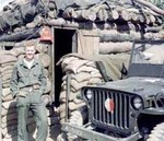 Me & WWII Willys parked next to '53 Korean FO bunker for a fast get away-  if necessary.