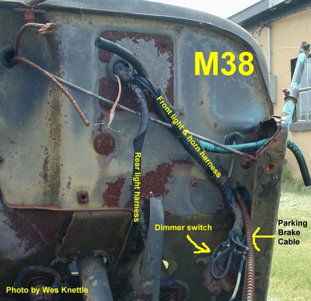 willys m jeeps forums viewtopic wiring harness routing for dimmer switch rh willysmjeeps com