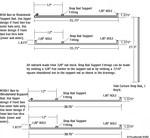 WeeBee Webbing's rodwork dimensions