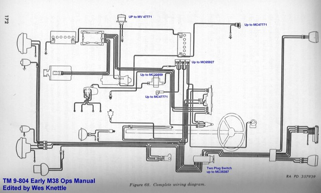 willys m jeeps forums viewtopic making a 24 volt wiring harness this is the wiring diagram to use that early front harness